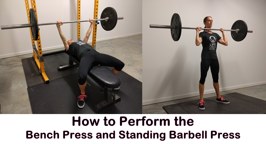 how to perform the bench press and standing press